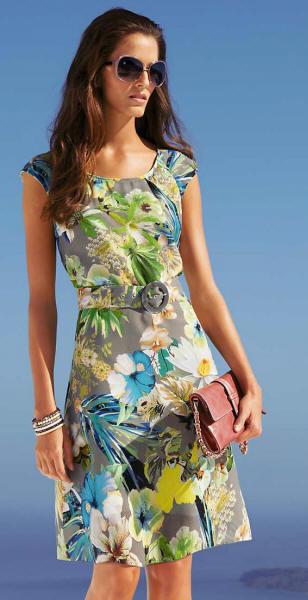 Летние платья из хлопка и льна