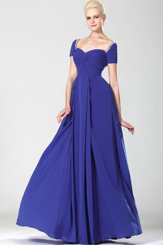 Платья синего цвета в пол