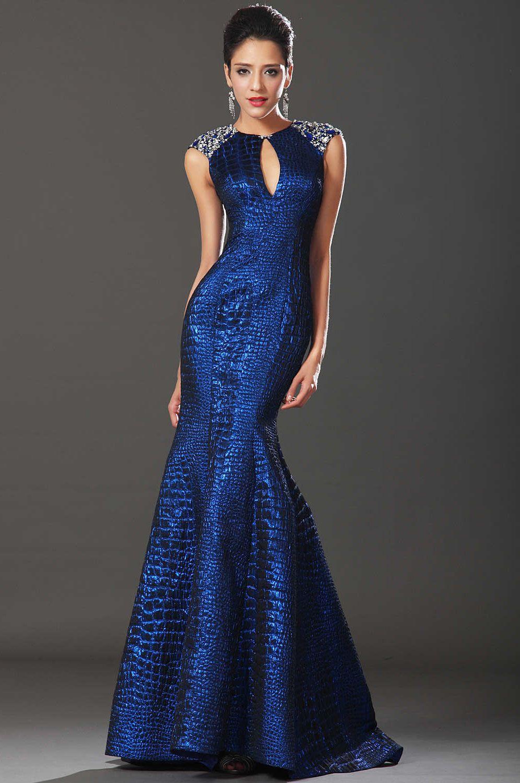 Шикарное синее платье фото