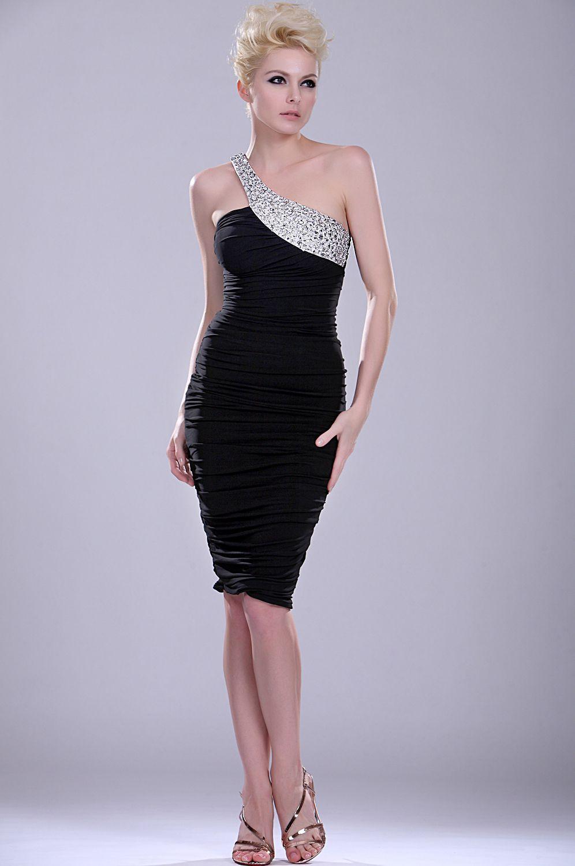 Выкройка и фото черного платья