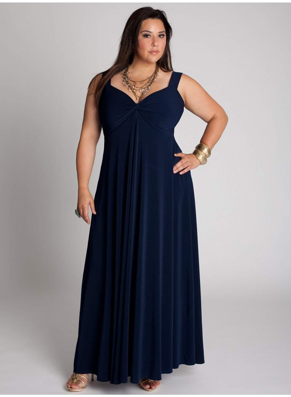 Синее Платье Большого Размера Купить