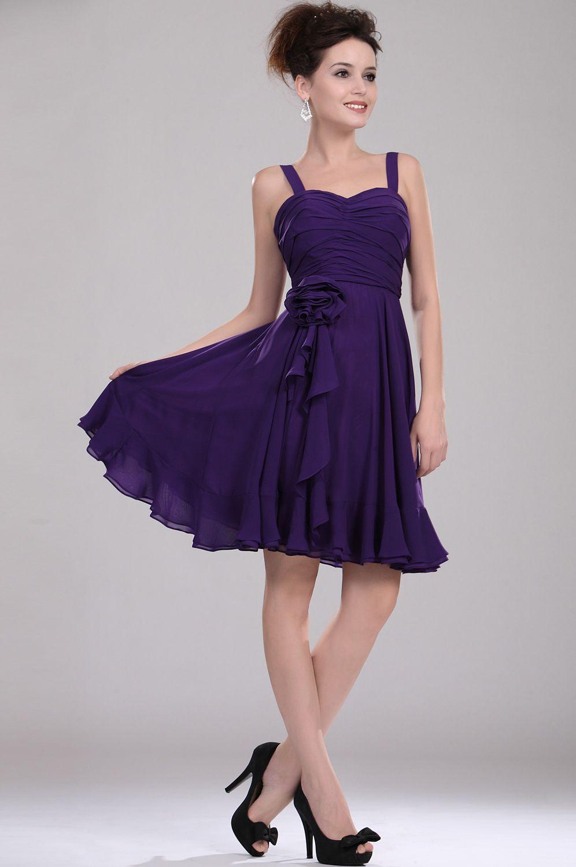 Праздничное фиолетовое платье